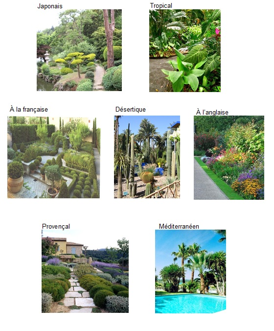 jardin japonais, jardin exotique, jardin mediterraneen, jardin à l'anglaise