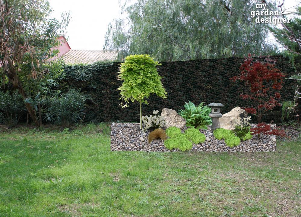 am nager un petit jardin japonais avec notre logiciel jardin monjardin. Black Bedroom Furniture Sets. Home Design Ideas