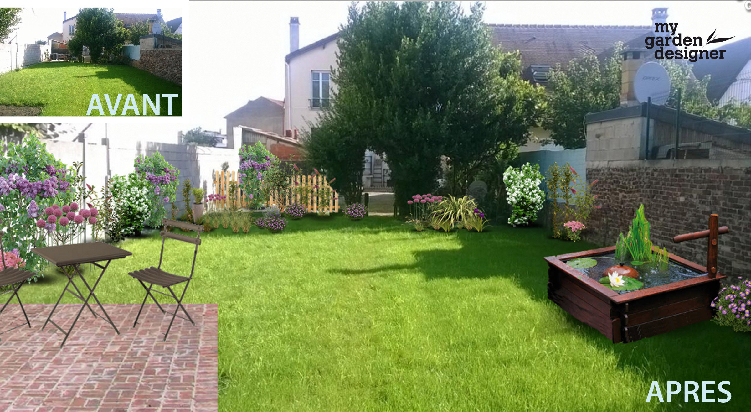 Am nager un jardin carr en ile de france monjardin - Amenagement de jardin ...