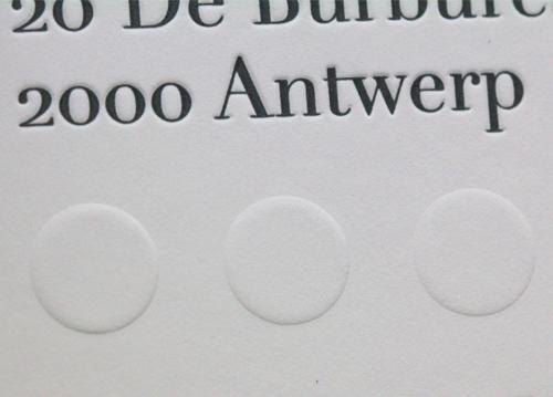 Letterpress kaart met preeg