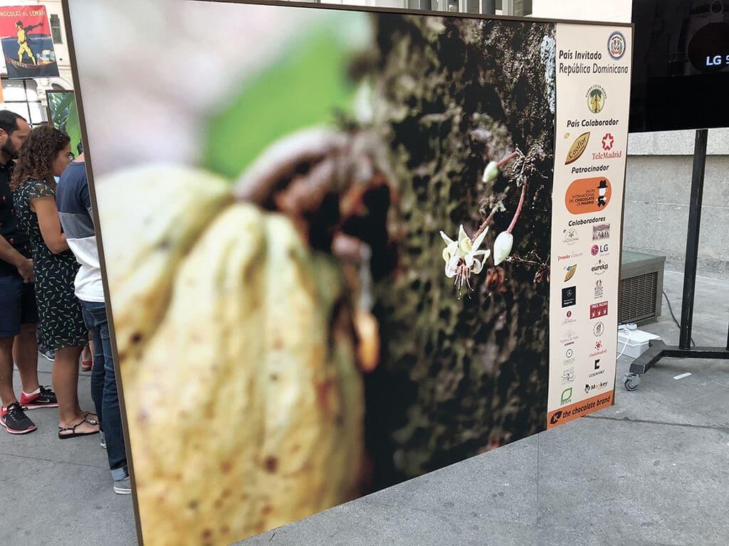 Separador de foma con impresión alta calidad. Salón Internacional del Chocolate