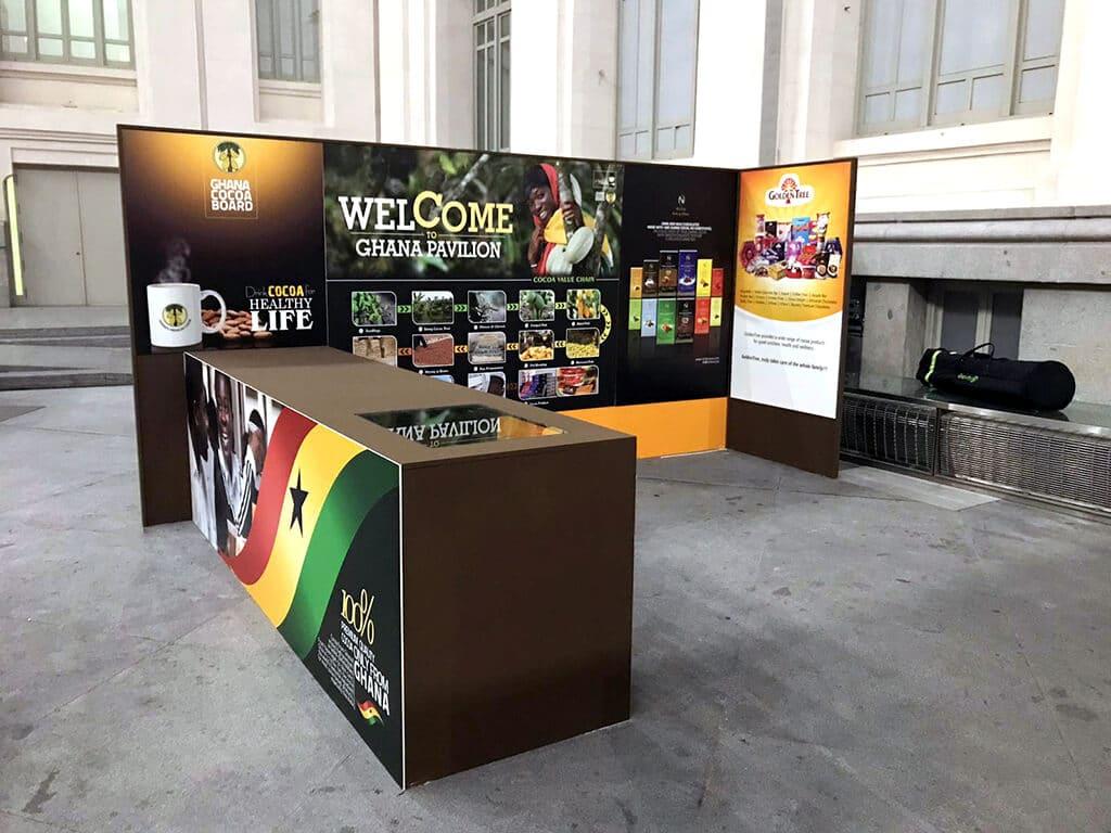 Stand Ghana Salón Internacional del Chocolate