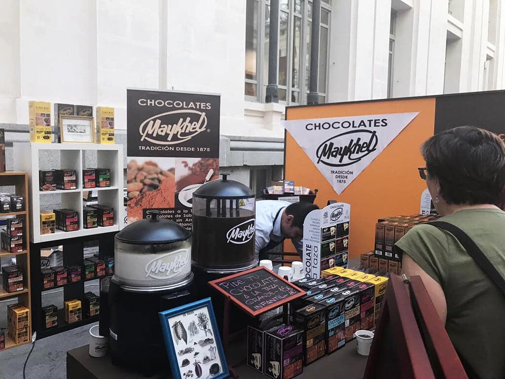 Stand de chocolates Maykhel en el Salón Internacional del Chocolate