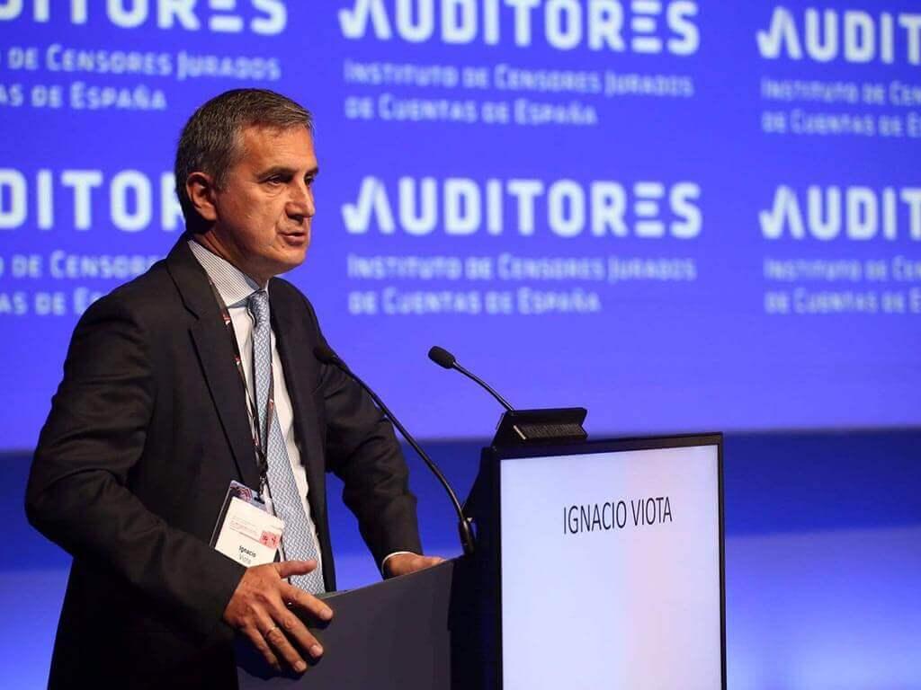 Ignacio Viota en el Congreso nacional de auditores en Toledo