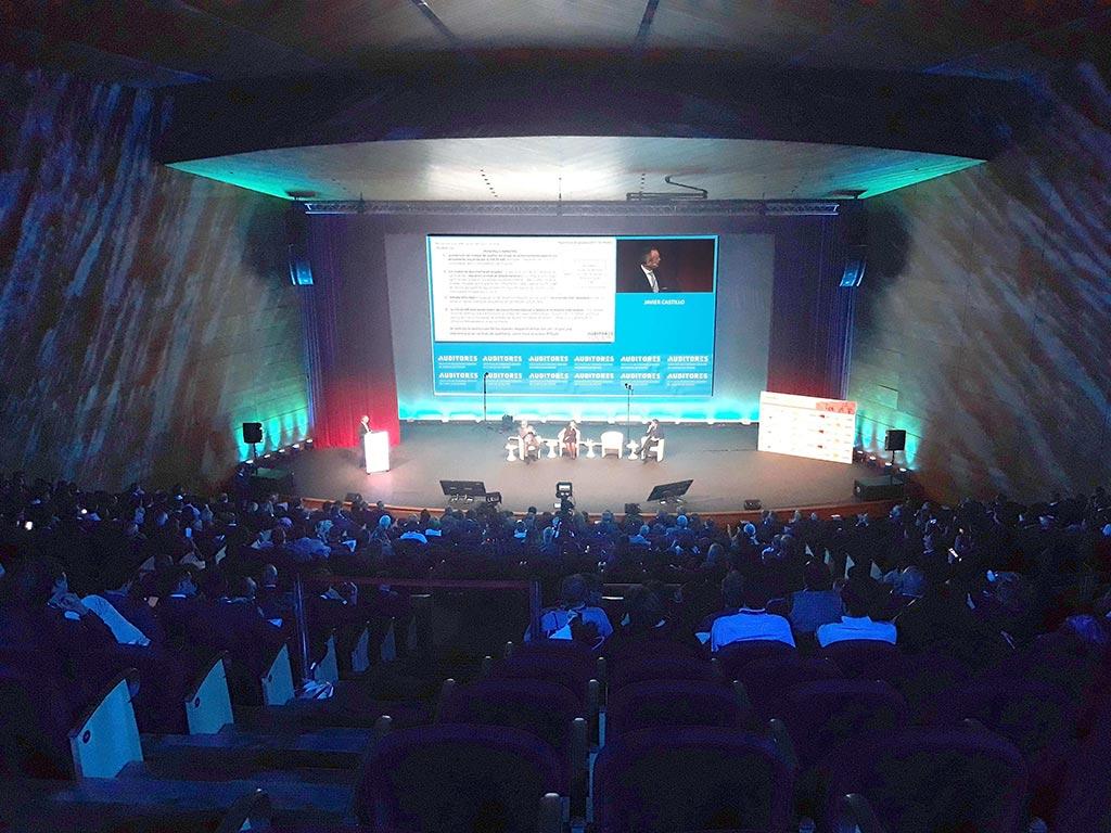 Vista central escenario auditorio