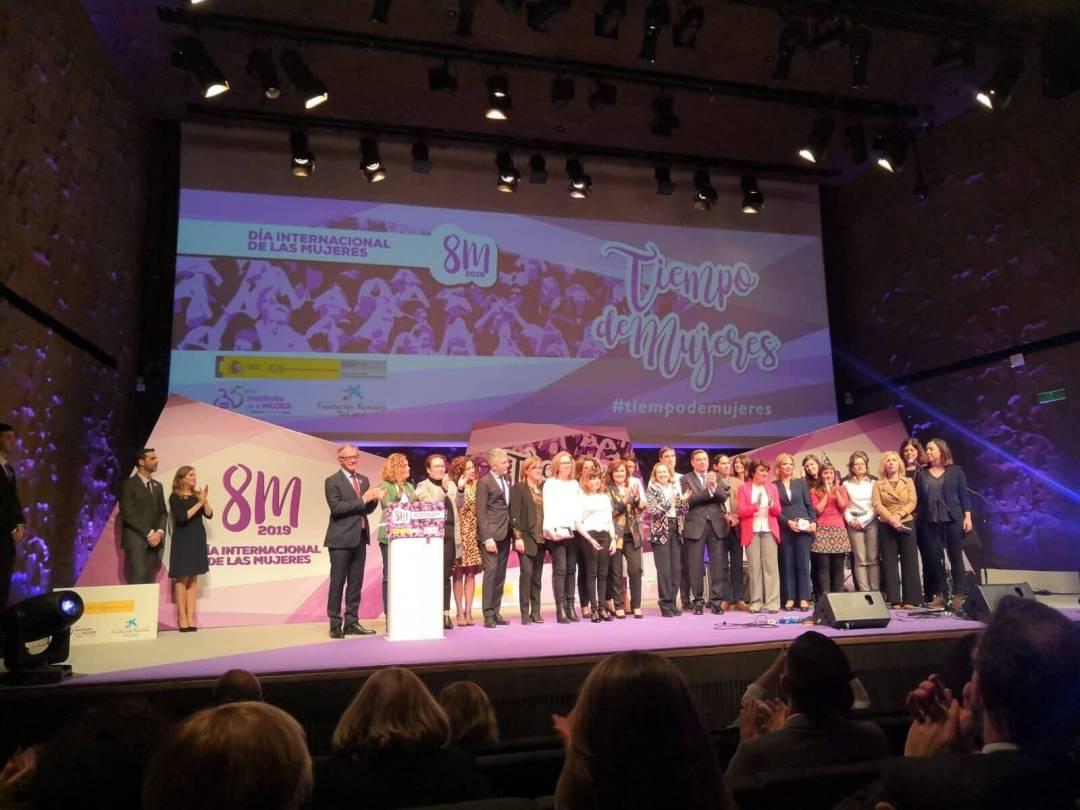 Escenario Caixaforum día internacional de la mujer con asistentes