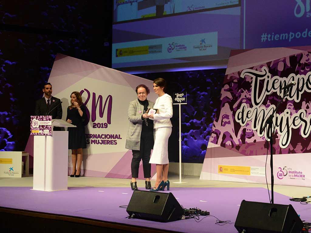 Escenario Caixa Forum. Evento mujeres