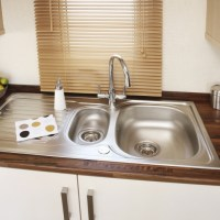 Holywell Holiday Home sink at Monkey Tree Holiday Park