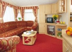 Crantock Holiday Home living room at Monkey Tree Holiday Park near Newquay