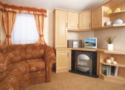 Towan Holiday Home living area Monkey Tree Holiday Park near Newquay