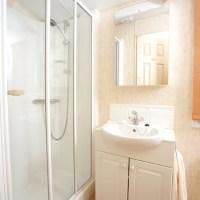 Towan Holiday Home shower room at Monkey Tree Holiday Park near Newquay