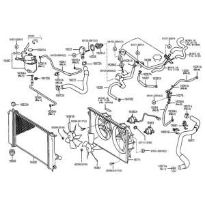 Toyota OEM Radiator Hose – Celica All 0005 – Lower | Monkeywrench Racing