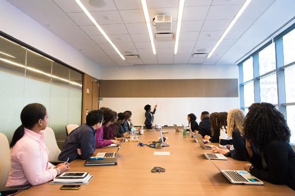 Meeting Room - Meeting in progress