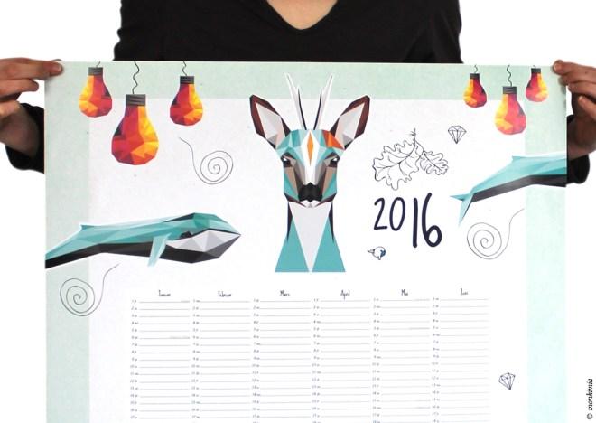 Wandkalender A1 dawanda 2016