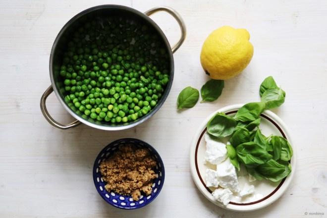 Erbsen-Feta-Pinienkern Pesto Rezept