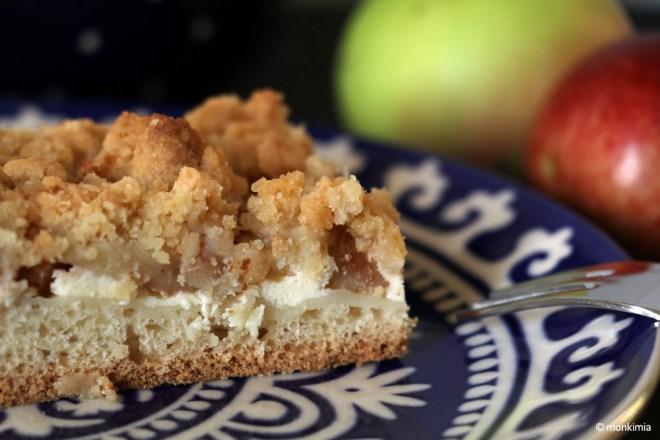 Apfel-Cheesecake-Hefekuchen