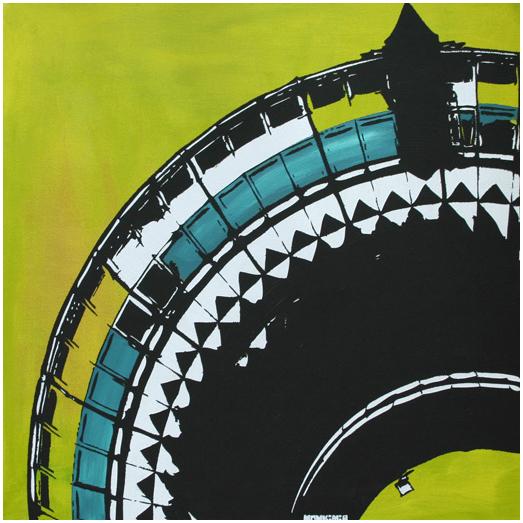 Monkimia – Fernsehturm 50cm x 50cm – VERKAUFT