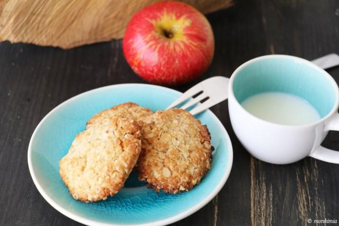 vegane haferflocken-kokos-kekse