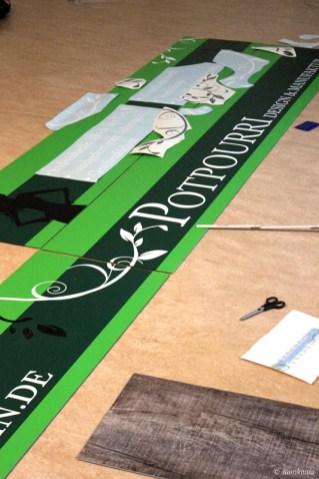 Ladenschild Potpourri Design