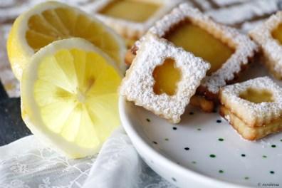 Zitronen Kekse, Lemon Curd Cookies