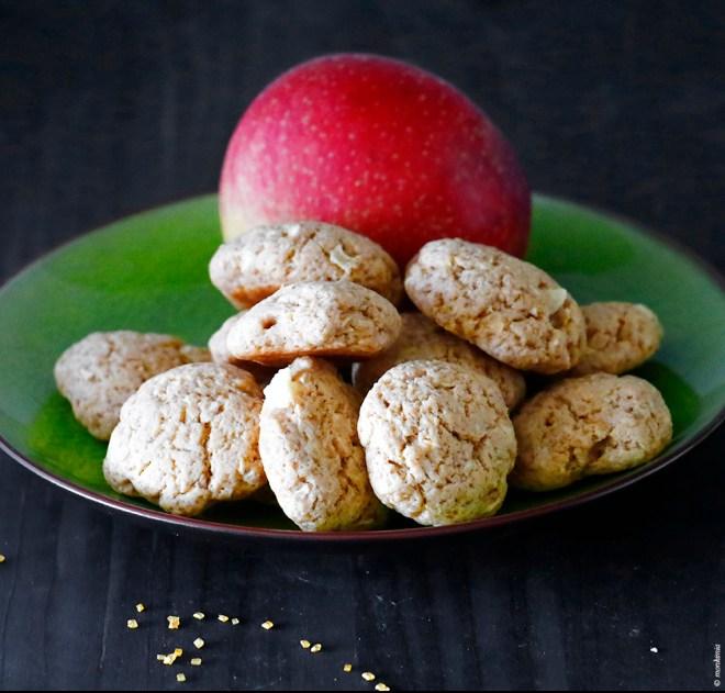 Apfelkekse mit Erdnussbutter