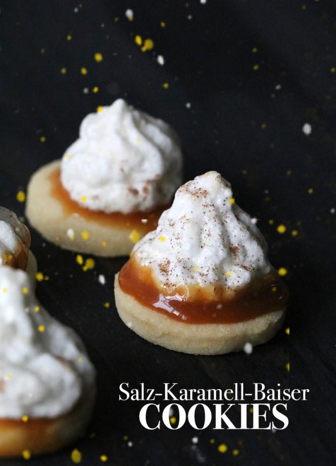 salted caramel baiser cookies