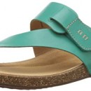 Clarks  Perri Coast, Tongs pour femme – Vert – Grün (Green Leather), 35.5 EU