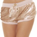 Cocogio Femmes Hot pants Beige P122-BEIGE, color:beige;Size:one size