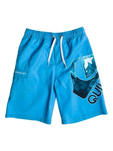 355b9b7396d74 Quiksilver Logo Youth Short de bain Garçon Volley Hawaiian Ocean FR ...