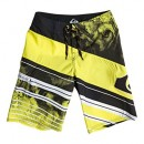 Quiksilver Space Intersect Youth Boardshort Garçon Sulpher Spring FR : 14 ans (Taille Fabricant : 28/14)