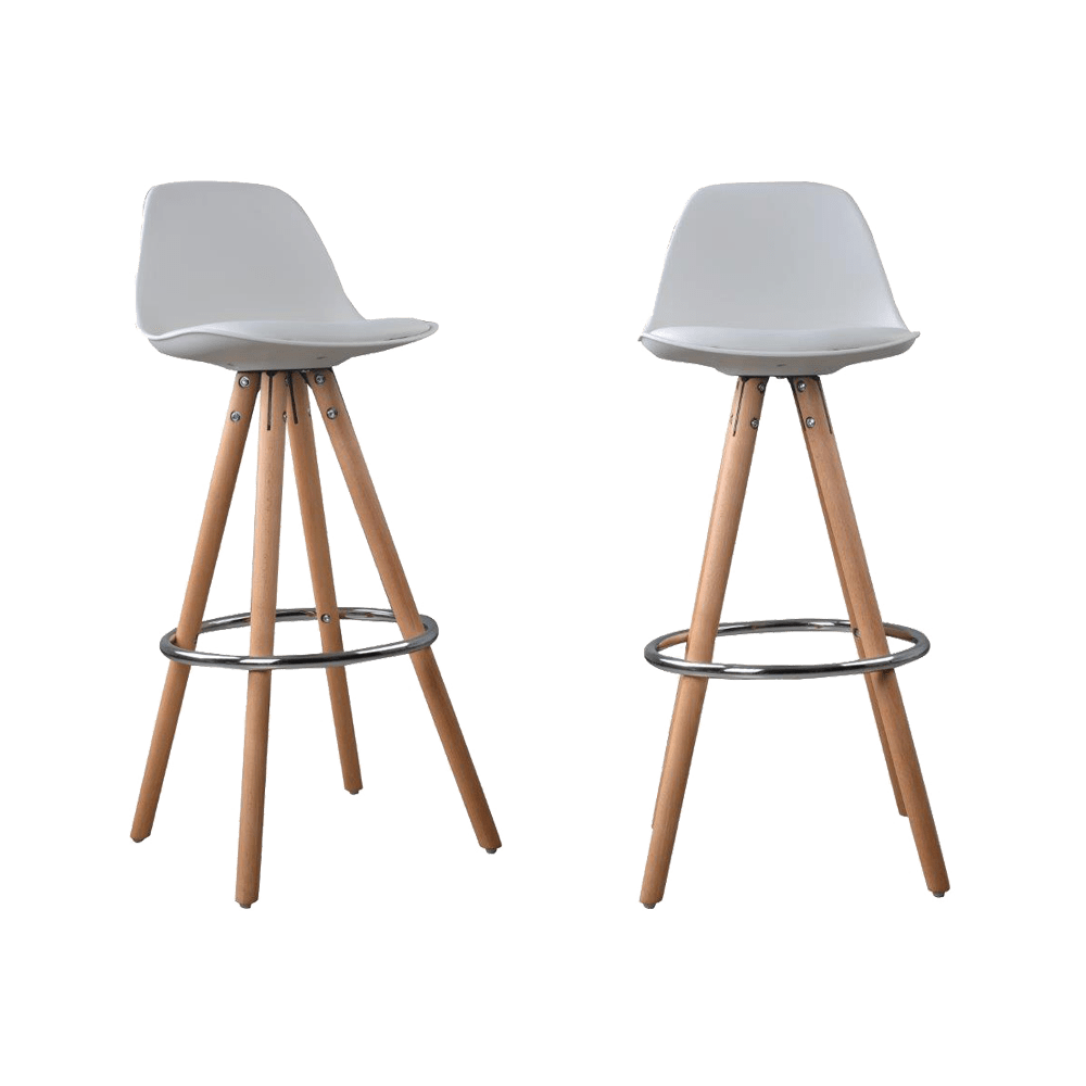 Lot De 2 Tabourets De Bar Design Scandinave Nordique