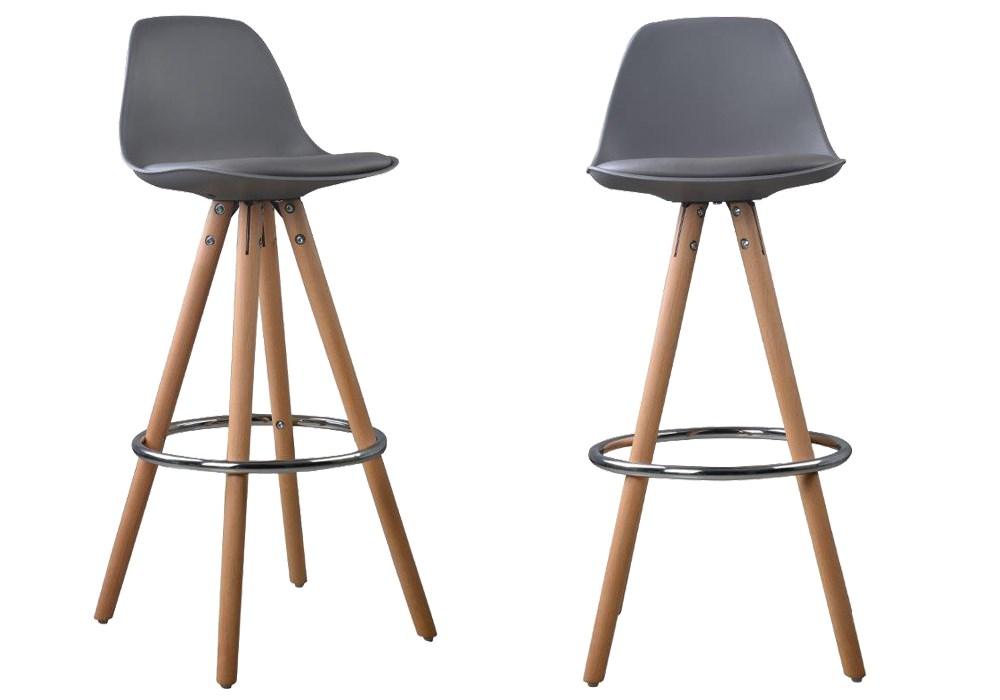 Lot De 2 Tabourets De Bar Design Scandinave Nordique