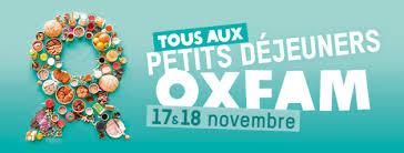 Bandeau OXFAM petits déjeuners 17 et 18 novembre 2018