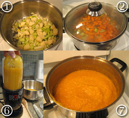 How to make carrot ginger soup