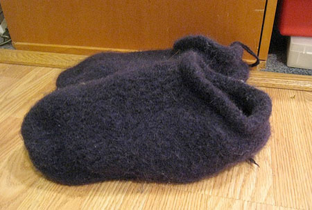 Felted slippers (no soles)