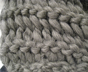 Instant Gratification Scarf in Blue Sky Alpacas Natural Bulky