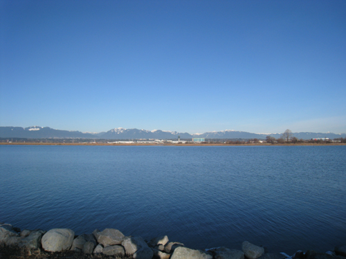 North Shore Mountains and YVR Airport