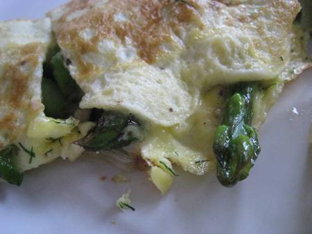 Asparagus and Goat Cheese Omelette