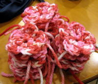 Crochet cherry blossoms