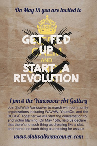 Join us at SlutWalk Vancouver on May 15