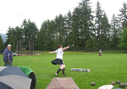 BC Highland Games 2011 - Women's Weight by Distance