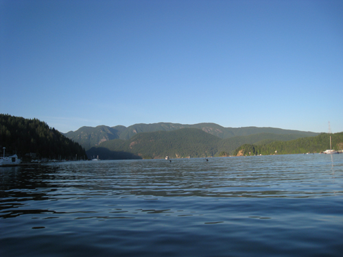 On the ferry leaving Deep Cove