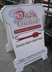 Deadly Couture on Cambie Street at Cordova