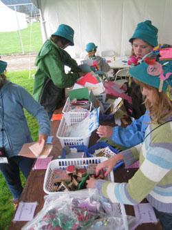 SOAR 2011 - Girls making cards