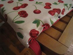 Finishing the last seam on the cushions