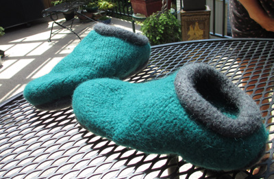 Felted Slippers - Pair #1