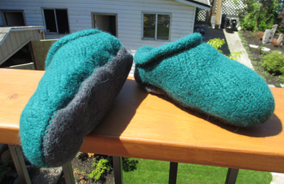 Felted Slippers #2