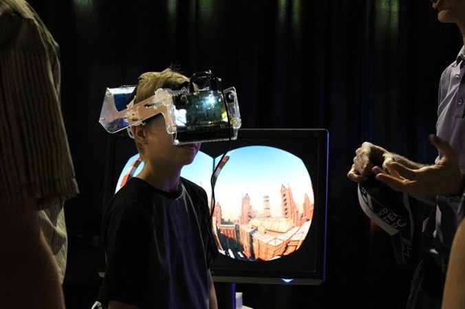 kid wearing virtual reality headset