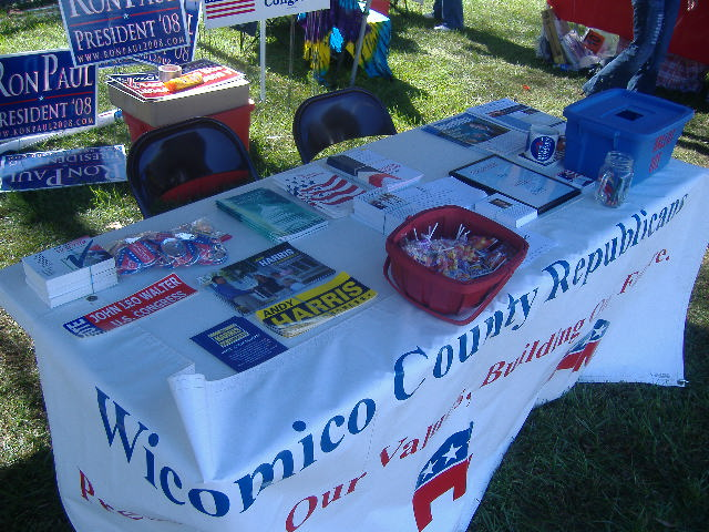 If this looks familiar, it should, because it's most of the same stuff I had at the WCRC Straw Poll and at RiverFest.