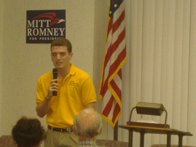 As the Political Director for the Andy Harris campaign, Chris Meekins came down to talk in Andy's place.